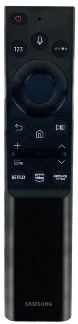 Samsung UE55AU9072 náhradní dálkový ovladač jiného vzhledu.