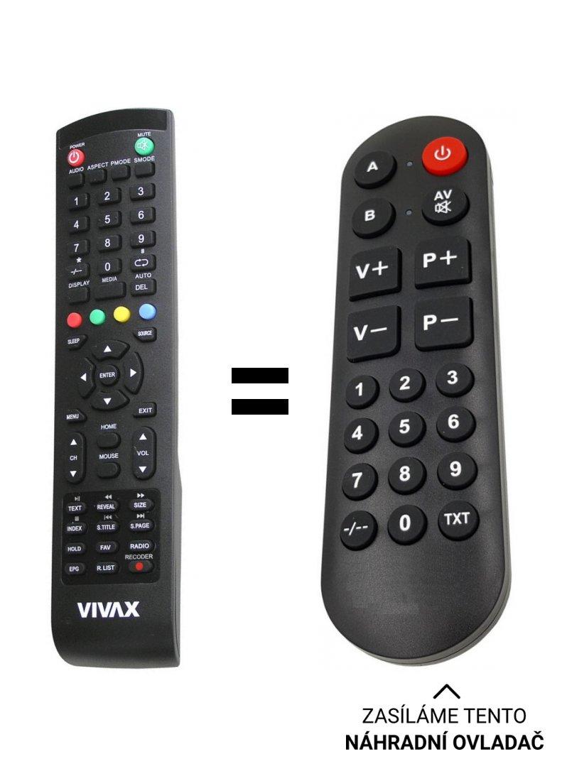 VIVAX TV-32LE78T2S2SM, TV-40LE78T2S2SM replacement remote control for seniors