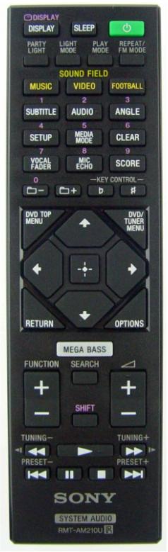 Sony MHV-V50D originální dálkový ovladač RMT-AM210