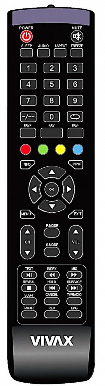 Vivax 50UHD122T2S2 náhradní dálkový ovladač jiného vzhledu.