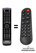 Vivax 50UHD122T2S2 náhradní dálkový ovladač pro seniory.
