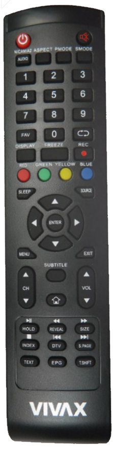 Vivax TV32LE141T2, TV-32LE141T2 originální dálkový ovladač