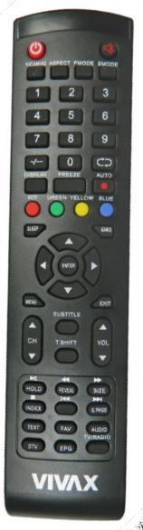 Vivax TV40LE140T2S2,TV-40LE140T2S2 náhradní dálkový ovladač jiného vzhledu