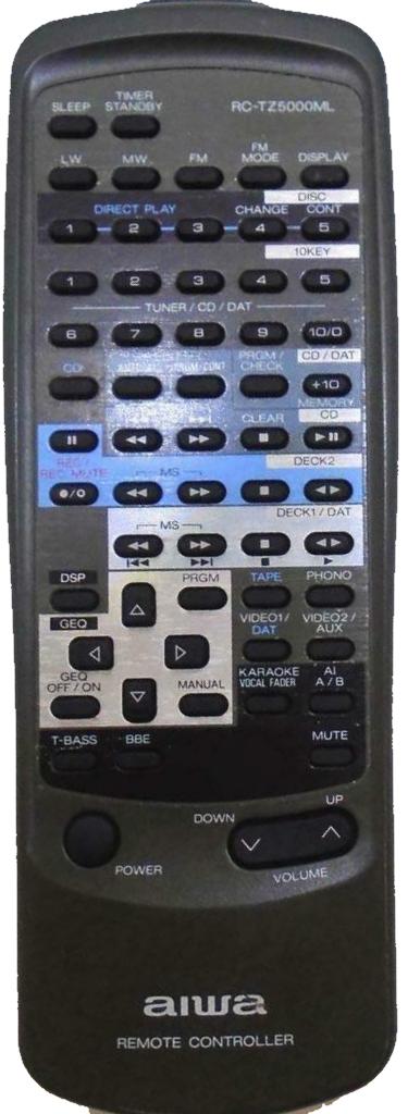 Aiwa RC-TZ5000ML , Z-D5000, MX-Z5000M, TX-Z7000, FX-WZ5000 náhradní dálkový ovladač jiného vzhledu