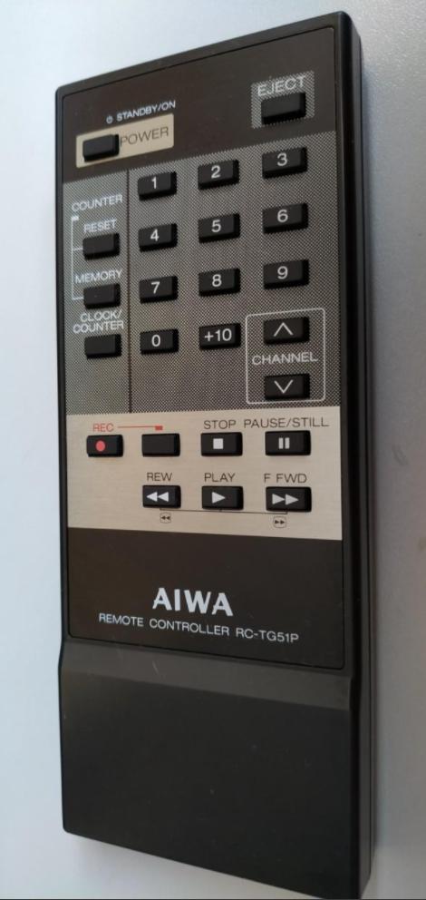 Aiwa RC-TG51P, DK910MK2 náhradní dálkový ovladač jiného vzhledu