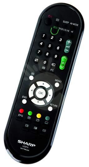 SHARP - GA779WJSA  Originální dálkový ovladač pro LCD televizor SHARP LC32DH57E