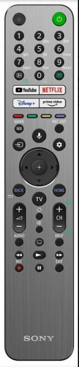 Sony KD-43X85J náhradní dálkový ovladač jiného vzhledu.