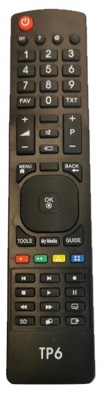 Grundig TP3 náhradní dálkový ovládač podobného vzhledu - bez nutnosti nastavování