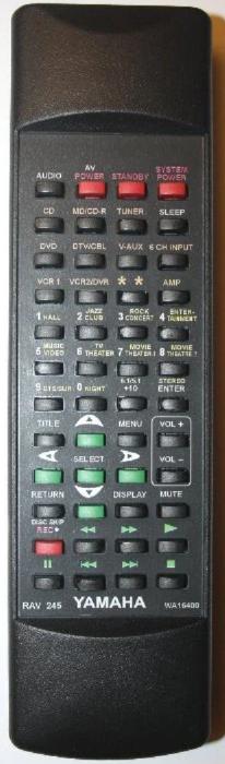 Yamaha RAV245, RAV246 náhradní dálkový ovladač se stejným popisem