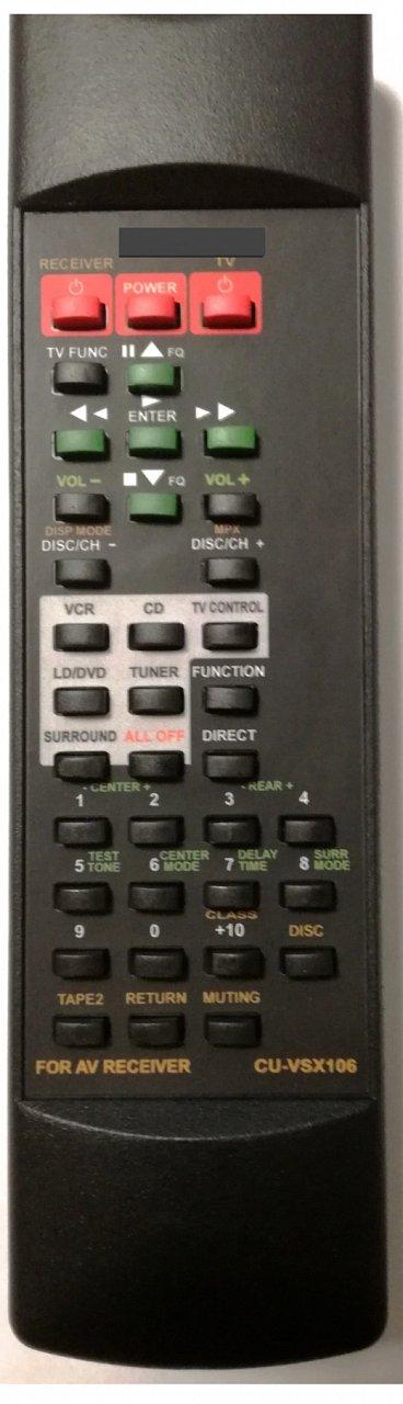 PIONEER CU-VSX106 náhradní dálkový ovladač se stejným popisem