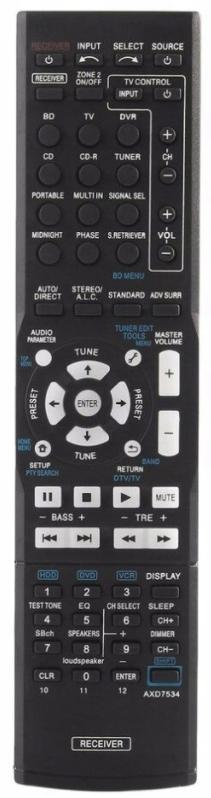 Pioneer AXD7690 náhradní dálkový ovladač s stejným popisem