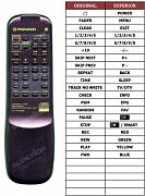 Pioneer PDR-04 náhradní dálkový ovladač jiného vzhledu