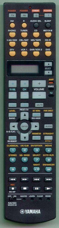 Yamaha RAV360, WH25410 náhradní dálkový ovladač jiného vzhledu