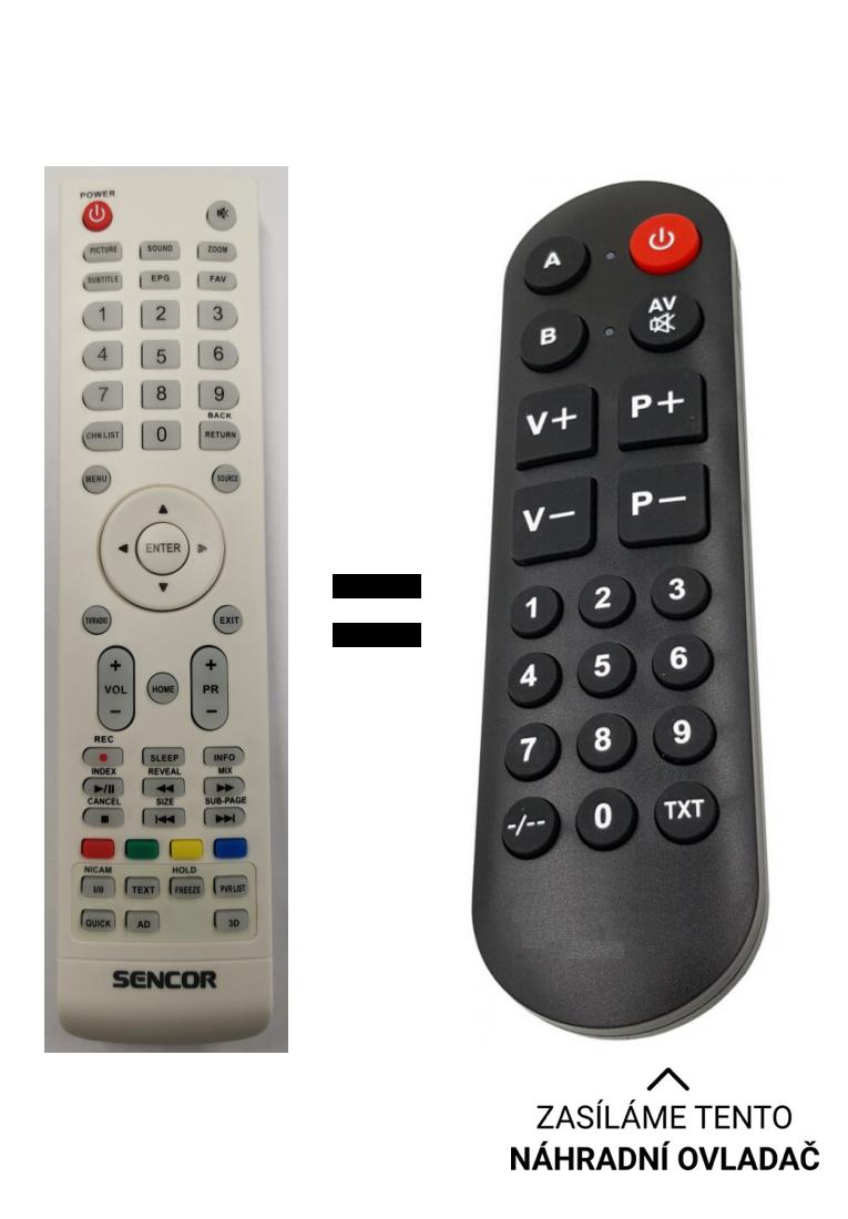 Skyworth 24E3A11G 32E3A11G 43E200A replacement remote control for seniors