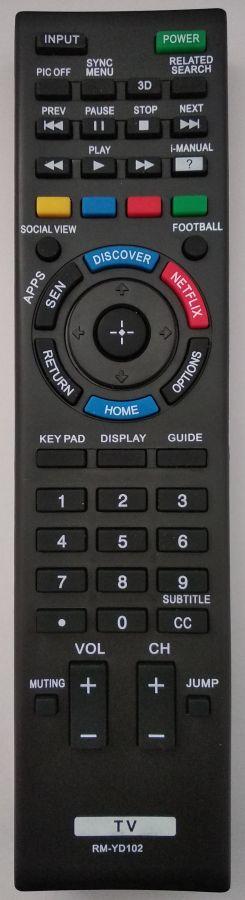 Sony RM-YD102  náhradní dálkový ovladač stejného vzhledu