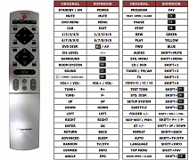 Pioneer XV-DV1000 náhradní dálkový ovladač jiného vzhledu