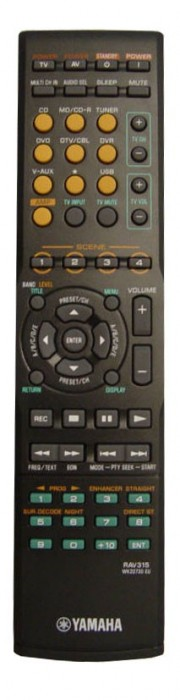 Yamaha RX-V450, RX-V459, RX-V650, RX-V730RDS, RX-V730 originální dálkový ovladač.