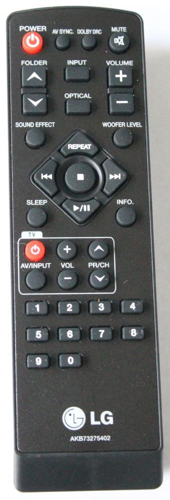 LG AKB73275402 náhradní dálkový ovladač jiného vzhledu pro sound bar