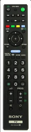 Sony RM-ED049 náhradní dálkový ovladač jiného vzhledu bez zadávání kódů.