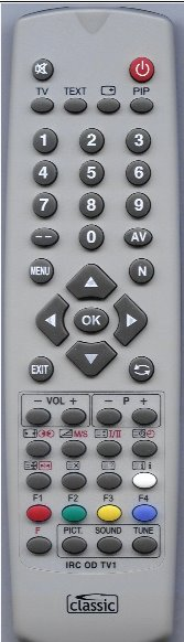 Hitachi CL2548TAN náhradní dálkový ovladač bez zadávání kódů.