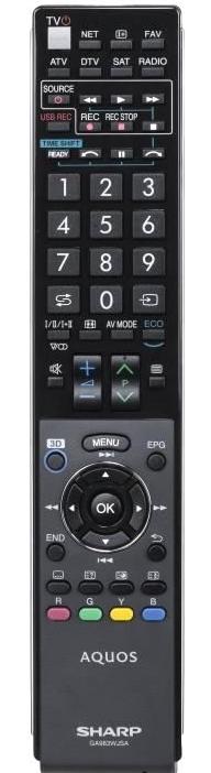 Sharp GB058WJSA originální dálkový ovladač.