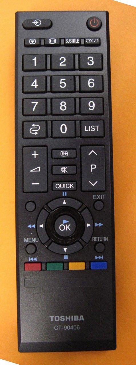 CT-90406 Toshiba náhradní dálkový ovladač jiného vzhledu.