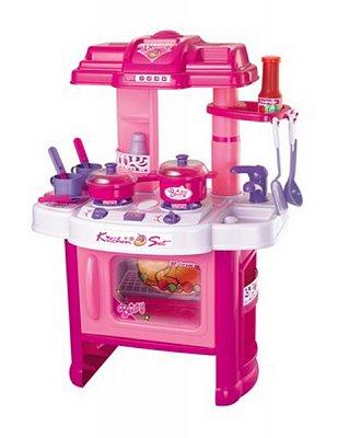 Dětská kuchyňka G21 v kombinaci růžová a bílá s ...