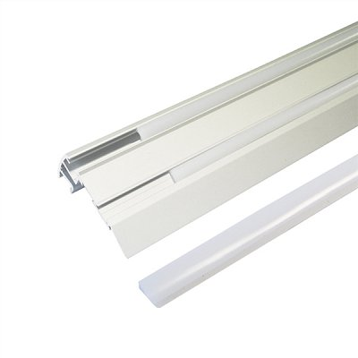 AL profil pro LED, Stair 67,5x27,8mm + plexi I=2m