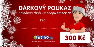 Dárkový poukaz EMERX v hodnotě 300,-Kč