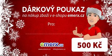 Dárkový poukaz EMERX v hodnotě 500 Kč