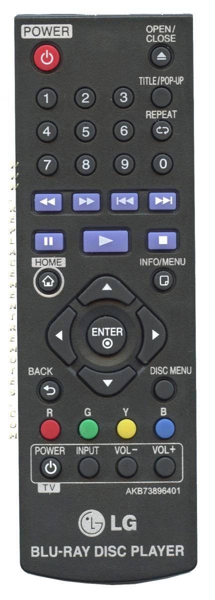 LG AKB73896401 náhradní dálkový ovladač jiného vzhledu