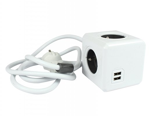 PowerCube PWC-PUSB Extended USB Grey (8718444082217)