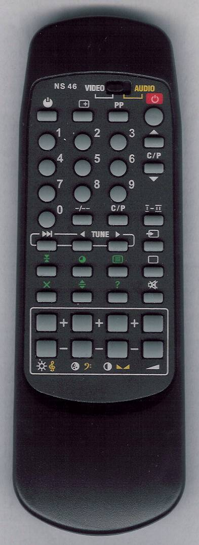 PHILIPS-21GR2552BRAQUE Náhradní dálkový ovladač
