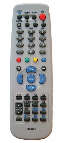 TOSHIBA  CT-870, CT-871 replacement remote control different |look.